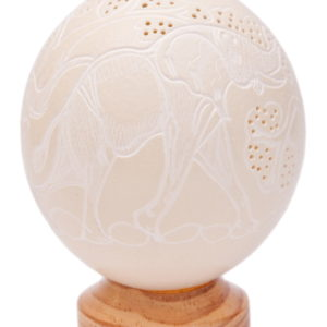 CARVED AFRICA EGG SHELL