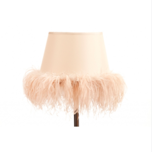 LAMPSHADE WITH OSTRICH FEATHERS